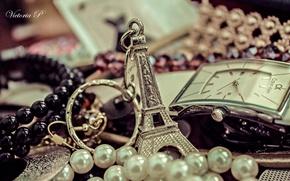 Картинка украшения, Париж, часы, духи, жемчуг, брелок, аксессуары, Calvin Klein, брелки