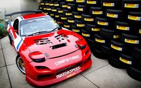 Картинка шины, red, Mazda, красная, много, tuning, мазда, RX-7