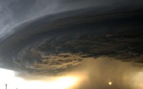 Обои дорога, буря, ураган
