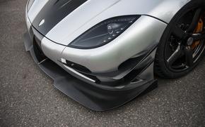 Картинка фары, Koenigsegg, Carbon, Кёнигсегг, One:1, Megacar