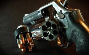 Картинка патроны, барабан, Револьвер, огнестрельное оружие