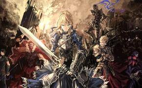 Картинка город, оружие, доспехи, saber, lancer, rider, assassin, слуги, berserker, archer, caster, Fate/Zero
