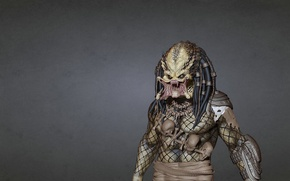 Картинка темный фон, хищник, инопланетянин, пришелец, predator