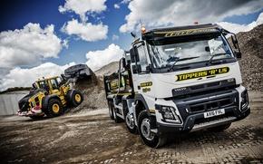 Обои грузовик, FMX, вольво, спецтехника, Volvo