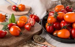 Картинка овощи, помидоры, томаты, специи