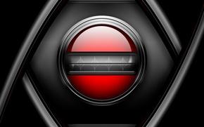 Обои красный, металл, сетка, черный, кнопка