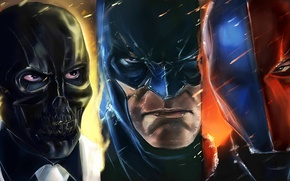 Картинка deathstroke, black mask, Batman: Arkham Origins, batman