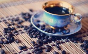 Картинка макро, кофе, утро, чашка, morning, кофейнве зерна