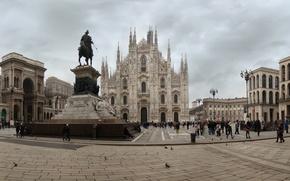 Картинка Италия, Милан, Italy, Milan, Миланский собор, Дуомо, Duomo di Milano