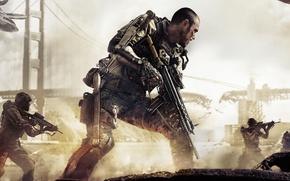 Картинка Мост, Солдат, Экзоскелет, Военный, Activision, Экипировка, Sledgehammer Games, Call of Duty: Advanced Warfare