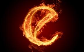 Картинка огонь, пламя, буква, алфавит, литера