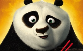 Обои мультфильм, панда, Кунфу