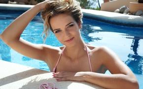 Картинка Девушка, бассейн, блондинка