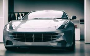 Картинка berlinetta, Ferrari F12, headlight, Silver Horse