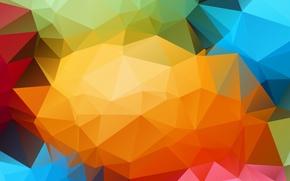 Картинка линии, обои, цвет, структура, грани, объем, треугольник