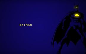 Обои брюс вейн, Batman, Минимализм, фон, comics, синий