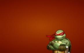 Картинка минимализм, Черепашки-ниндзя, Raphael, Teenage Mutant Ninja Turtles, мутанты ниндзя черепашки
