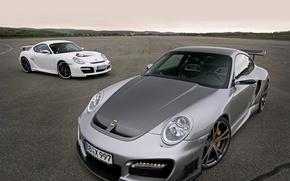 Обои асфальт, Porsche