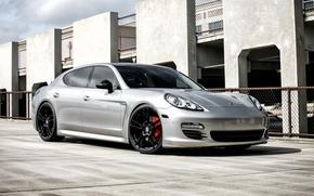 Картинка Porsche, Panamera, Black, Wheels