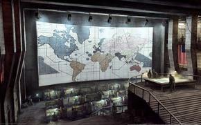 Обои стратеги, америка, карта
