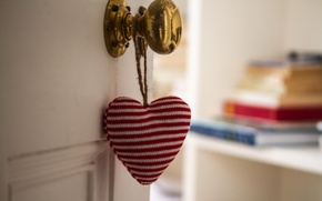 Обои дверь, настроение, сердце