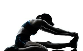 Картинка woman, fitness, athlete, stretching