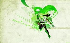 Картинка девушка, аниме, vocaloid, hatsune miku, вокалоид