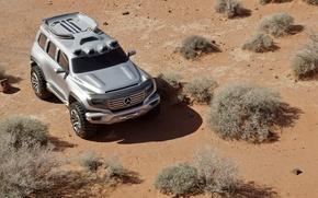 Обои Песок, Пустыня, Мерс, Внедорожник, Ener-g, Force, Mercedes Benz, Концепт