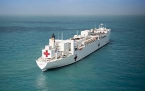 Картинка корабль, класса, USNS Mercy, госпитальных судов, T-AH 19