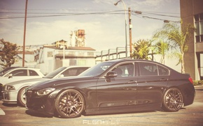 Картинка BMW, чёрная, диски, F30