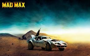 Картинка пулемет, автомобиль, постапокалипсис, Buggy, Mad Max: Fury Road, Безумный Макс: Дорога ярости