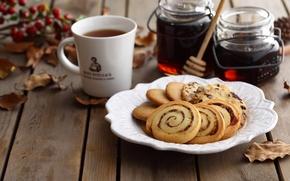 Картинка чай, печенье, угощение