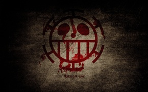 Картинка аниме, арт, One Piece, Хирург Смерти, Трафальгар Ло