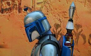 Картинка фон, Star Wars, шлем, наемник, Boba Fett