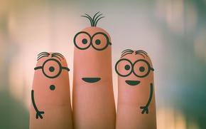 Картинка fun, fingers, humour, minions
