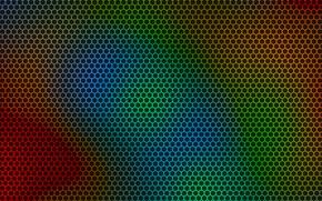Картинка абстракция, соты, art, много цветов, kolor