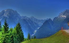 Картинка Рамзау, горы, природа, Германия, HDR, Бавария, пейзаж