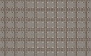 Картинка поверхность, круги, металл, серый, фон, квадраты, плиты, текстуры, заклёпки