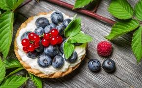 Картинка листья мяты, mint leaves, Вкусный десерт, Delicious dessert, fruit cake, raspberry leaves, листья малины, ягодный …