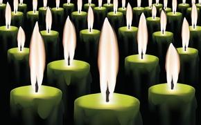 Картинка огонь, свечи, воск