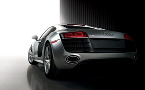Картинка спорткар, Audi R8, серебистый