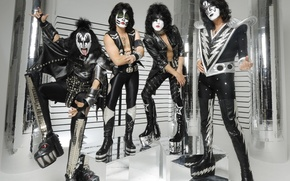Обои серый, группа, рок, KIss