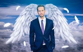 Картинка память, небеса, крылья, актер, Пол Уокер, Paul Walker, Tribute