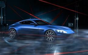 Картинка Aston Martin, Dark, Car, Lagonda, Blue, Laser, Limited, DB10
