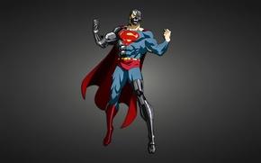 Картинка металл, робот, Супермен, киборг, крик, комикс, Superman