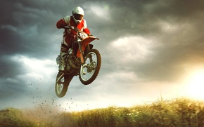 Картинка прыжок, спорт, байк, экстрим, мотоциклист, bike, jump, extreme, sports, biker, Motocross, Michal Vítek