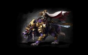 Картинка воин, наездник, Online MMORPGБ игры, Myth War