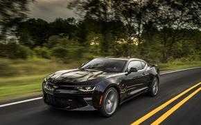 Картинка дорога, скорость, Chevrolet Camaro