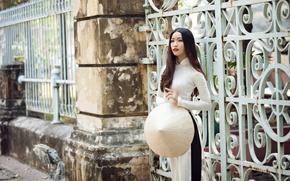 Картинка девушка, стиль, улица, азиатка