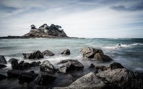 Картинка sea, rocks, Fort du Guesclin